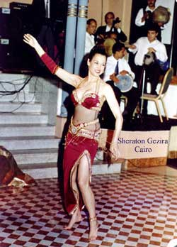 Marta the legend performing her belly dance show in the Gezira Sheraton Hotel in Cairo, Egypt